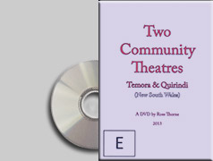 two community theatres DVD